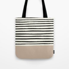 Latte & Stripes Tote Bag