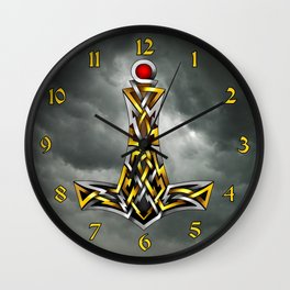 Thor's Hammer Mjolnir Wall Clock