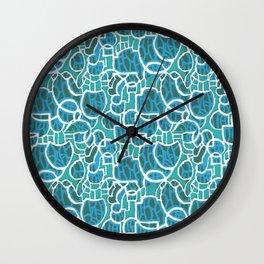 Bubbles Blue Wall Clock