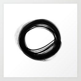 Minimal Circle black and white Art Print