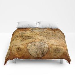 Vintage Map Comforters