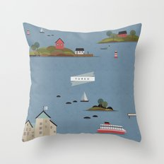 Turku Archipelago Throw Pillow