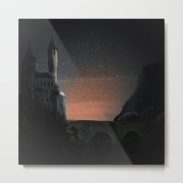 Castle in the night Metal Print