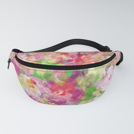 Colorful Watercolors Flowers Collage Fanny Pack