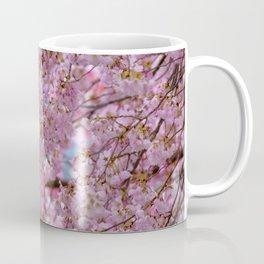 Watercolor Tree Pink DC Cherry Blossoms 01, Meadowlark Gardens Coffee Mug