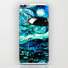 Starry Night UFO iPhone Skin