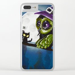 owl witch Clear iPhone Case