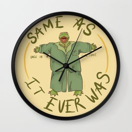 same as it ever was  Wall Clock