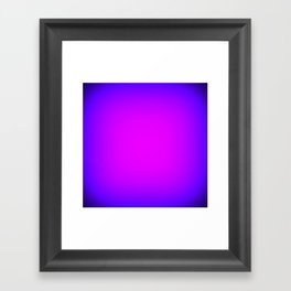 Fuchsia Purple Blue Focus Framed Art Print