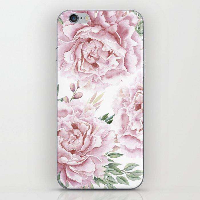 Pretty Pink Roses Flower Garden iPhone Skin