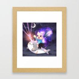 Space Narwhal Framed Art Print