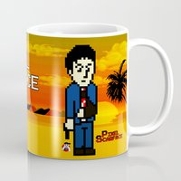 scarface Mugs featuring Pixel Scarface by Rapsmyinitials