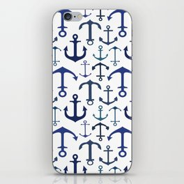 Blue Anchors iPhone Skin