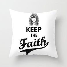 KEEP THE FAITH Throw Pillow