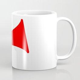 Red Isolated Megaphone Coffee Mug