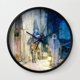 Henry Ossawa Tanner - Flight into Egypt - Digital Remastered Edition Wall Clock