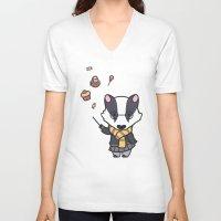 hufflepuff V-neck T-shirts featuring Hufflepuff by Kiell R.