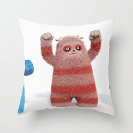 Yeti Attack Throw Pillow