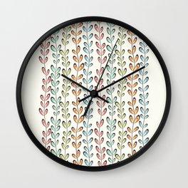 Fun colorful leaves Wall Clock
