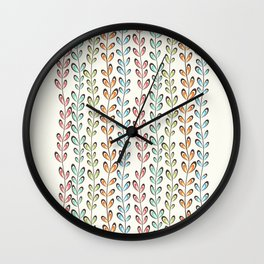 Fun colorful leaves Wall Clock