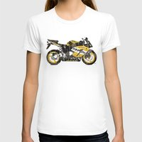 honda T-shirts featuring Honda CBR1000 & Old Newspapers by Larsson Stevensem