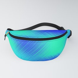 Blue and Green Patches Fanny Pack