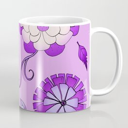 Purple Crazy Daisy pattern Coffee Mug