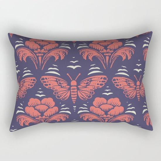 butterfly damask (stark) Rectangular Pillow