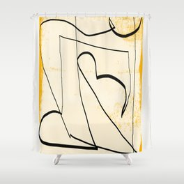 Abstract line art 4 Shower Curtain