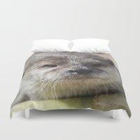 otter Duvet Covers featuring Otter by PICSL8
