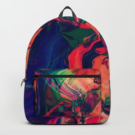 Watercolor Abstract Colorful Pattern Backpack