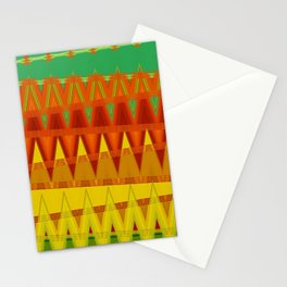 Indien Triangle Pattern Art Stationery Cards