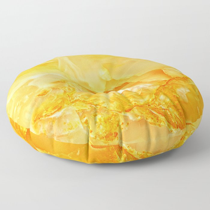 Yellow Onyx Marble Floor Pillow By Patternmaker