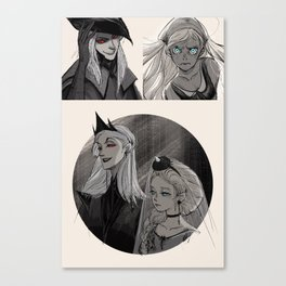 Inktober 00 Oc from my own story Canvas Print