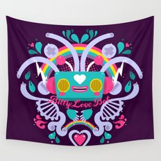Bitty Love Bot Wall Tapestry