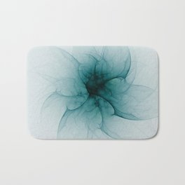 Dark Flower Fractal Bath Mat