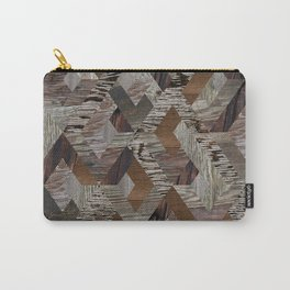 Wood Quilt Carry-All Pouch
