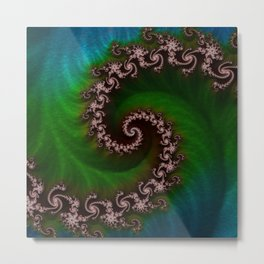 Benthic Saltlife Fractal Tribute for Reef Divers Metal Print