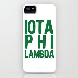 Iota Phi Lambda II iPhone Case