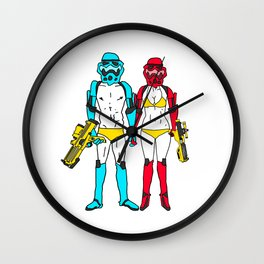 Mr. and Mrs. Storm Wall Clock