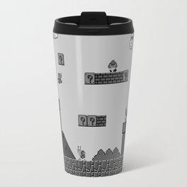Mario Black & White Travel Mug