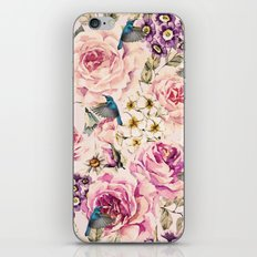 Flowers and birds iPhone & iPod Skin