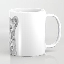Lioness with a baby Coffee Mug