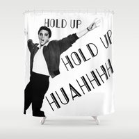elvis presley Shower Curtains featuring Elvis Presley NaeNae by Far-Real