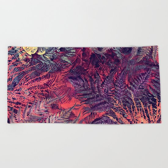 flowers 16 Beach Towel