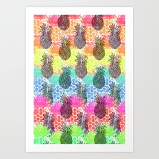 Tropic Pineapple Art Print