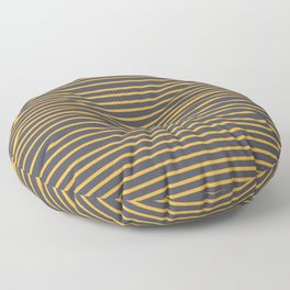 Yellow stripes on inkwell grey  Floor Pillow