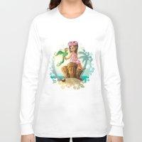 hawaiian Long Sleeve T-shirts featuring Hawaiian Friends by Jon Thomson