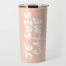 JE SUIS CALME Peach Hand Lettering Travel Mug
