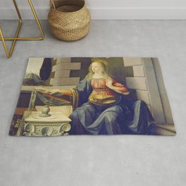 "Leonardo da Vinci ""Annunciation 2."" Rug"